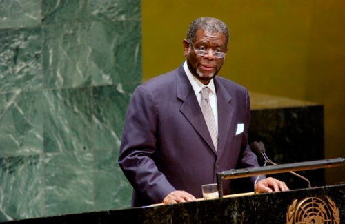 Theo-Ben Gurirab at 2nd World Conference of Speakers of Parliament